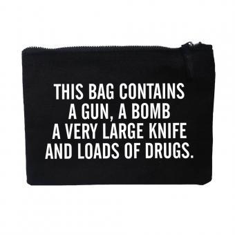 Drugs - Damen Clutch - Schwarz I Tasche I Kosmetiktasche I Handtasche I Kulturbeutel I Federmappe