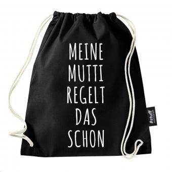 Mutti - Turnbeutel - Schwarz I I Beutel: Schwarz I Rucksack I Jutebeutel I Sportbeutel I Hipster