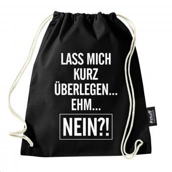 Nein - Turnbeutel - Schwarz I I Beutel: Schwarz I Rucksack I Jutebeutel I Sportbeutel I Hipster