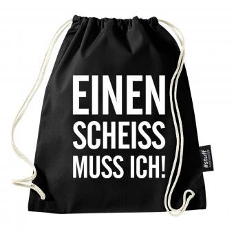 Scheiss - Turnbeutel - Schwarz I I Beutel: Schwarz I Rucksack I Jutebeutel I Sportbeutel I Hipster